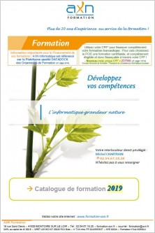 Catalogue formation 2019
